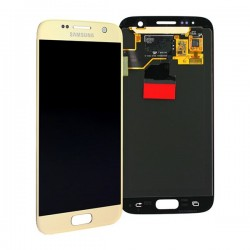 Samsung S7 Gold LCD & Digitiser Complete G930F GH97-18523C