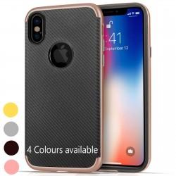 iPhone XS / iPhone X Carbon Fibre Gel Case
