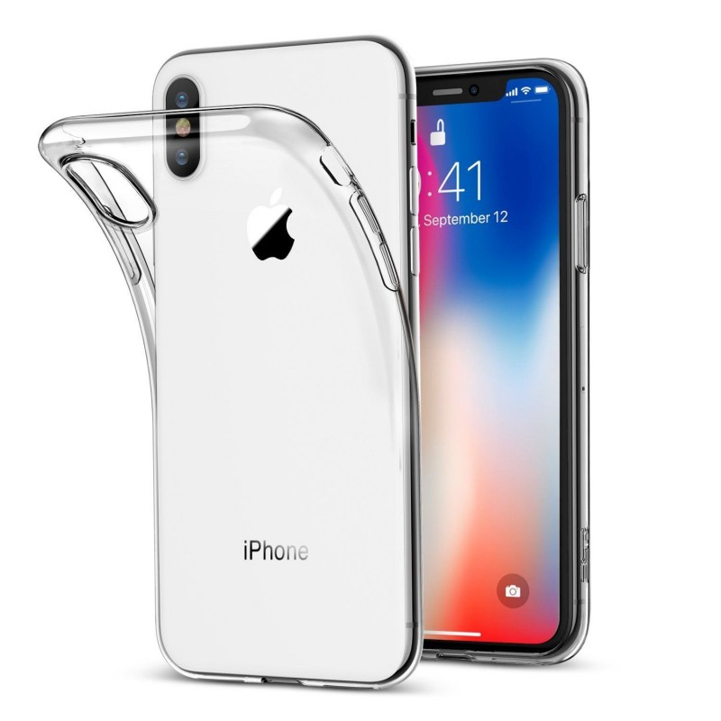 timeless design c6c1e ea428 iPhone X Ultra Thin Clear Gel Case - WS Parts