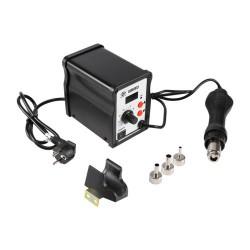 220V LCD 858D Hot Air Rework Station Solder Blower Desoldering Tool & 3 Nozzles