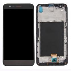 LG K10 2017 Black LCD & Digitiser Complete w/ Frame M250n