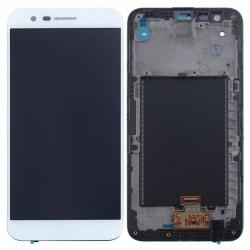 LG K10 2017 White LCD & Digitiser Complete w/ Frame M250n