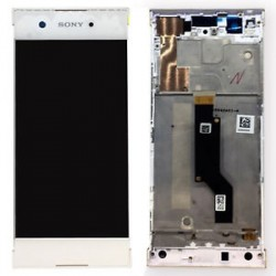 Sony Xperia XA1 White LCD & Digitiser Complete with frame G3116 G3121 G3112