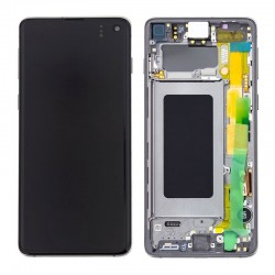 Samsung S10 Prism Black LCD & Digitiser Complete G973f GH82-18850A