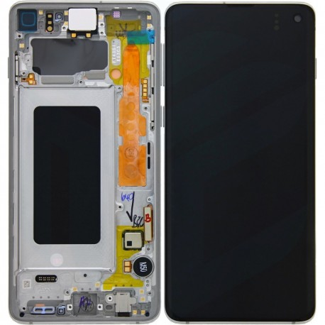 Samsung S10 Prism White LCD & Digitiser Complete G973f GH82-18850B