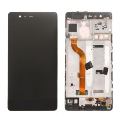 Huawei P9 Black LCD & Digitiser with Frame EVA-L19 EVA-L29