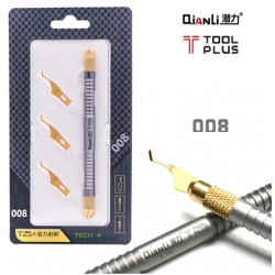 QianLi 008 Underfill Glue Cleaner w/ 3 Cold Steel Blades for BGA IC Repair