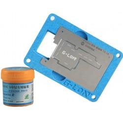 G-Lon iPhone X PCB Holder & Stencil w/ Solder Paste