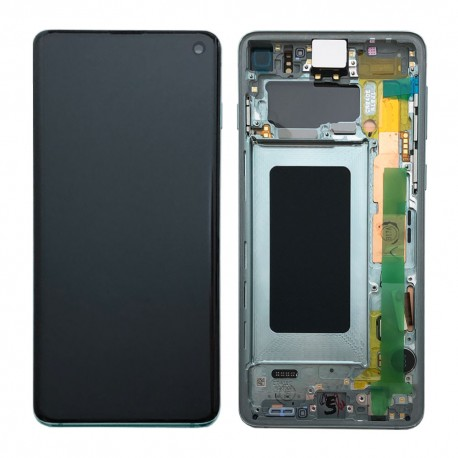 Samsung S10 Prism Green LCD & Digitiser Complete G973f GH82-18850E
