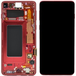 Samsung S10 Cardinal Red LCD & Digitiser Complete G973f GH82-18850H