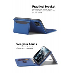 iPhone 12 Pro Max Soft Touch Leather Wallet Case (5 Colours)