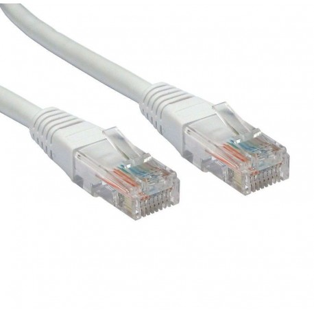 RJ45 (M) to RJ45 (M) CAT5e Ethernet Moulded Boot Copper UTP Network Cable