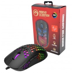 Marvo Scorpion G961 USB RGB LED Black Programmable Gaming Mouse