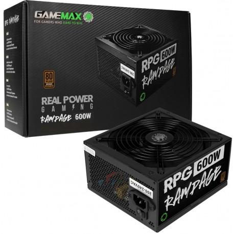 GameMax RPG Rampage 600W 140mm Ultra Silent Fan 80 PLUS Bronze PSU