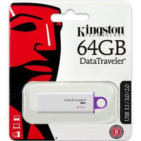 Kingston DataTraveler G4 64GB USB 3.0 Purple USB Flash Drive