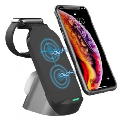 H18 Wireless Qi 3-in-1 15W Charging Desk Stand