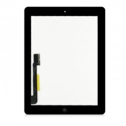 iPad 3 & 4 Black Digitiser with Home Button
