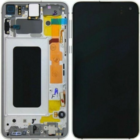 Samsung S10E Prism White LCD & Digitiser Complete G970f GH82-18852B
