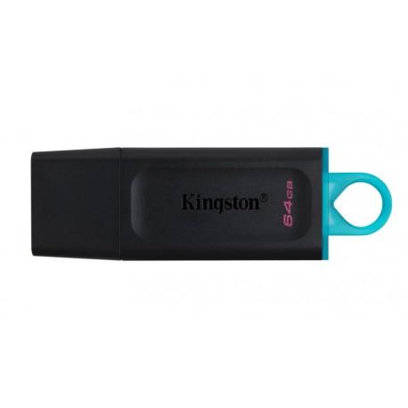 Kingston DataTraveler Exodia 64GB USB 3.2 Blk/Cyan USB Flash Drive