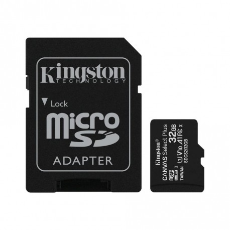 Kingston Canvas Select Plus 32GB Micro SD UHS-I Flash Card with Adapter
