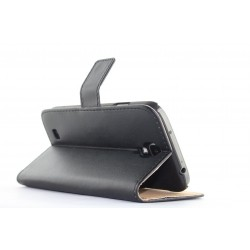Leather Flip Book Case Cover with Stand for Samsung Galaxy S4