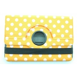 iPad Mini / iPad Mini with Retina 360 Rotating Polka Dots Leather Case