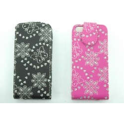 iPhone 5C Bling Diamond Leaf Leather Flip Case Cover