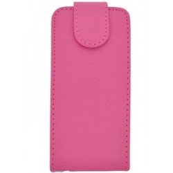 iPhone 5/5s Leather Flip Case in Pink