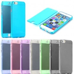 iPhone 6 Full Wrap Gel Case Coloured Screen Protector
