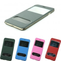 S-View Leather Flip Case For iPhone 6 Plus 5.5''
