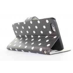 Polka Dots Leather Flip Wallet Case Cover For iPhone 6 4.7''